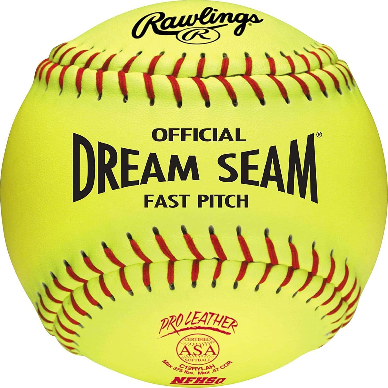 Dream Seam 12 Pack Softball Size 12