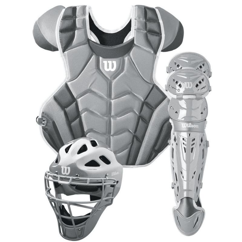C1k Catcher's Gear Kit, Silverwhite