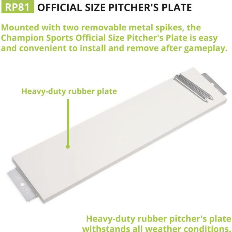 Champion Sports Official Pitcher's Plate (2)