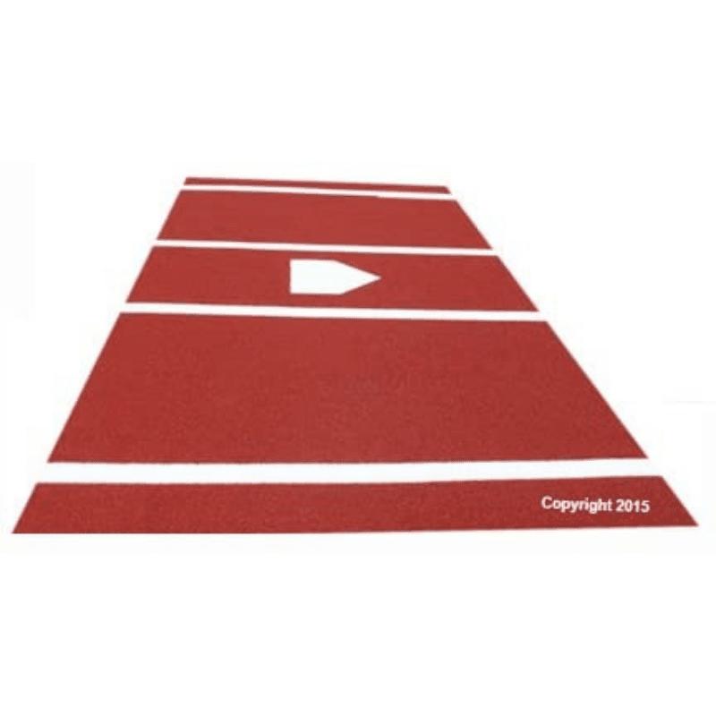 Premium 12 X 6 BaseballSoftball Hitting Mat in ClayDirt Color 2