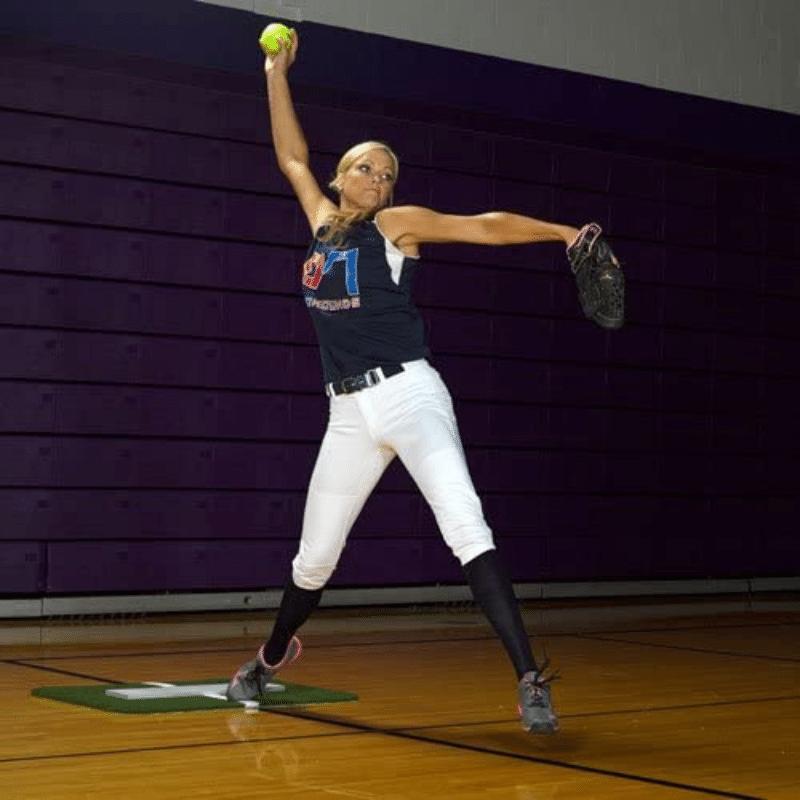 ProMounds Jennie Finch Softball Pitching Mini Mat wPowerline 2