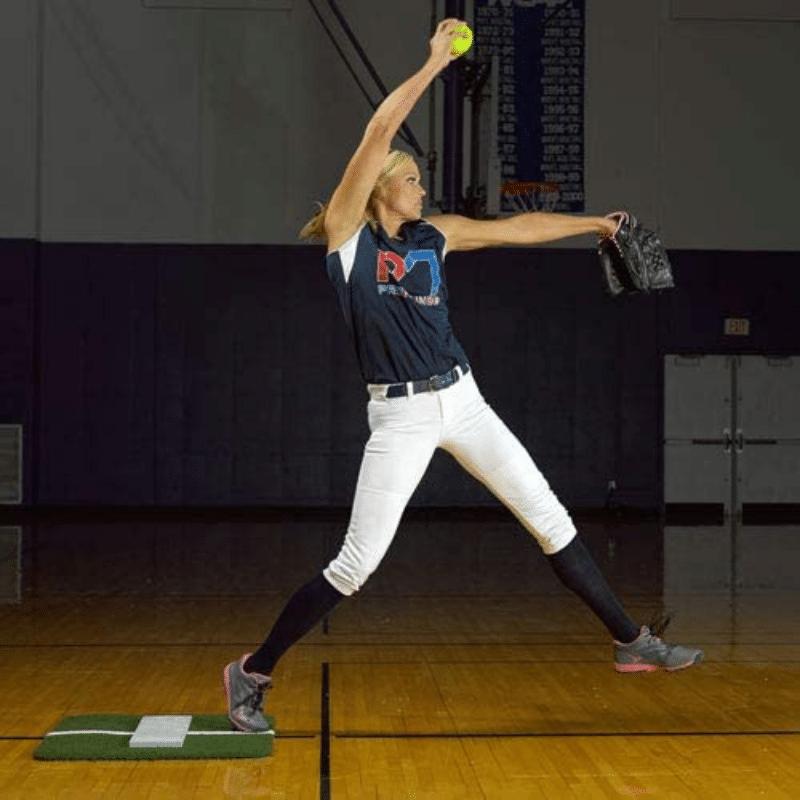 ProMounds Jennie Finch Softball Pitching Mini Mat wPowerline